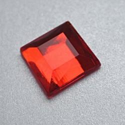 Cyrkonie kwadratowe 4 x 4 mm, 176 szt - CZERWONE
