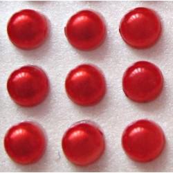 Półperełki okrągłe 4 mm, 176 szt - CZERWONE