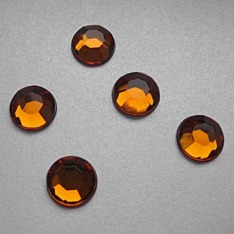 Cyrkonie okrągłe 2 mm (pomarańczowy) - 176 szt.