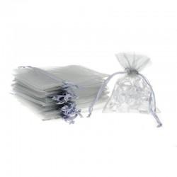 Woreczki z organzy 9 cm x 12 cm (srebrne) - 25 szt.