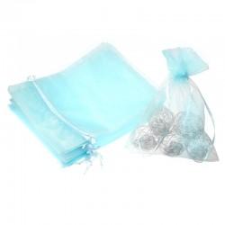 Woreczki z organzy 15 x 20 cm - Błękitne