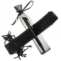 Woreczki z organzy 3,5 x  19 cm (czarne) - 25 szt.