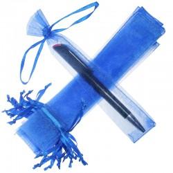 Woreczki z organzy 3,5 x  19 cm (niebieskie) - 25 szt.
