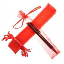 Woreczki z organzy 3,5 x  19 cm (czerwone) - 25 szt.