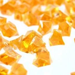 Lód akrylowy, duży 2,3 x 1,8 cm (pomarańczowy) - 190 szt.