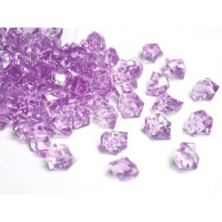 Lód akrylowy, mały 1,4 x 1,1 cm (fioletowy jasny) - 780 szt.