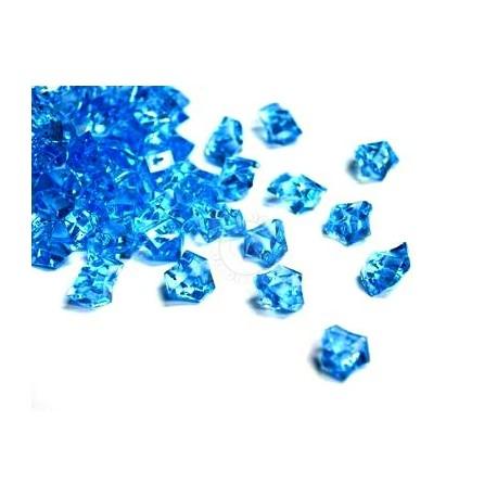 Lód akrylowy, duży 2,3 x 1,8 cm (niebieski) - 190 szt.
