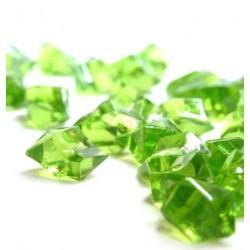 Lód akrylowy, duży 2,3 x 1,8 cm (zielony ciemny) - 190 szt.