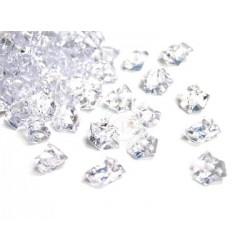 Lód akrylowy, mały 1,4 x 1,1 cm (kryształowy) - 780 szt.