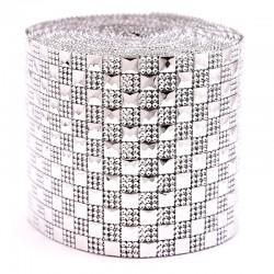 Taśma dekoracyjna 12 cm x 9m (srebrna) - 1 szt.