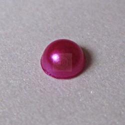Półperełki okrągłe 3 mm, 176 szt - AMARANTOWE