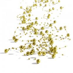 Girlandy perłowe 1,35 m (złote) - 5 szt.