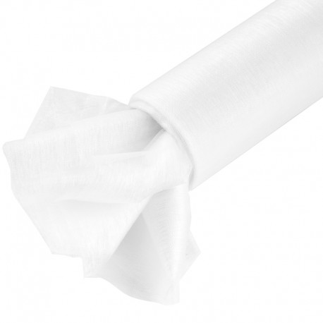 Organza gładka 40 cm x 9,1 m (biała) - 1 szt.