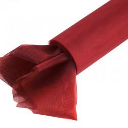 Organza gładka 40 cm x 9,1 m (czerwony) - 1 szt.