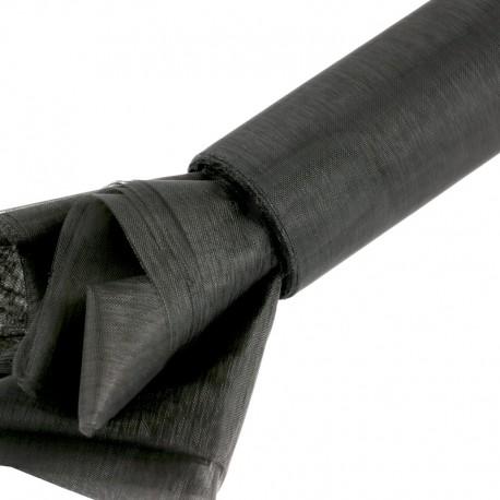 Organza gładka 16 cm x 9,1 m (czarna) - 1 szt.