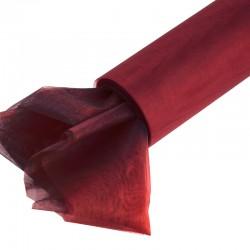 Organza gładka 16 cm x 9,1 m (bordowa) - 1 szt.