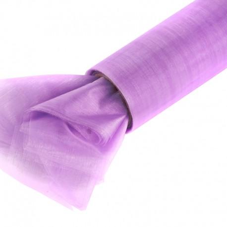 Organza gładka 16 cm x 9,1 m (fioletowa jasna) - 1 szt.