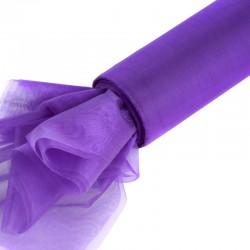 Organza gładka 16 cm x 9,1 m (fioletowa ciemna) - 1 szt.