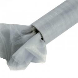 Organza gładka 16 cm x 9,1 m (srebrna) - 1 szt.
