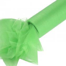 Organza gładka 16 cm x 9,1 m (zielona) - 1 szt.