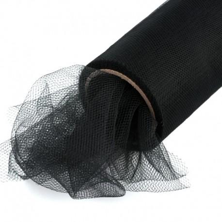 Tiul na rolce gładki 40 cm x 9,1m (czarny) - 1 szt.