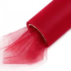 Tiul na rolce gładki 40 cm x 9,1m (czerwony) - 1 szt.