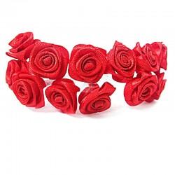 Róże satynowe (czerwone) - 36 szt.