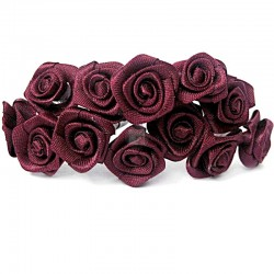 Róże satynowe (bordowe) - 36 szt.