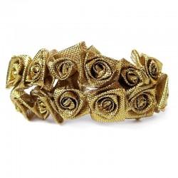 Róże satynowe (złote) - 36 szt.