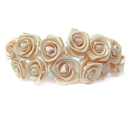 Róże satynowe (łososiowe) - 36 szt.