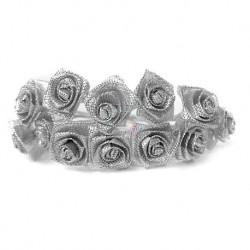 Srebrne róże 12 szt