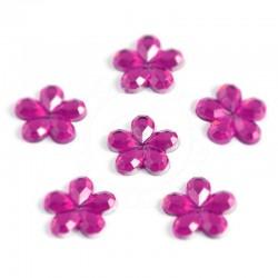 Cyrkonie kwiatki 8 mm, 80 szt - RÓŻOWE