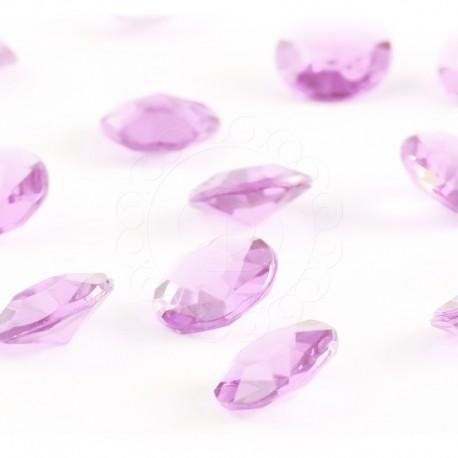 Diamentowe konfetti 12 mm (różowe jasne) - 100 szt.