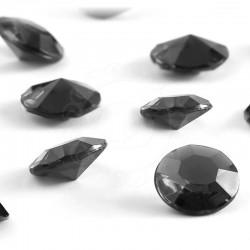 Diamentowe konfetti 12 mm (czarne) - 100 szt.