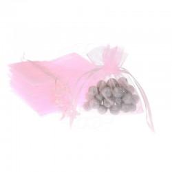 Woreczki z organzy 15 cm x 20 cm (różowe jasne) - 10 szt.
