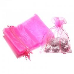Woreczki z organzy 15 cm x 20 cm (różowe) - 10 szt.