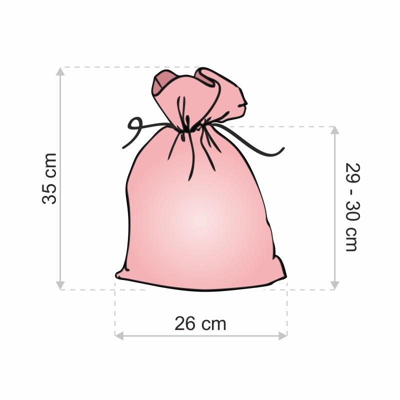 d548a1709994c Woreczki z organzy 26 cm x 35 cm (fioletowe jasne) - 5 szt.