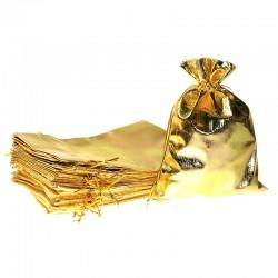 Woreczki metaliczne 13 cm x 18 cm (złote) - 10 szt.
