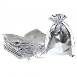 Woreczki metaliczne 18 cm x 24 cm (srebrne) - 10 szt.