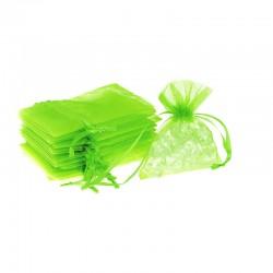 Woreczki z organzy 18 cm x 24 cm (zielone jasne) - 10 szt.