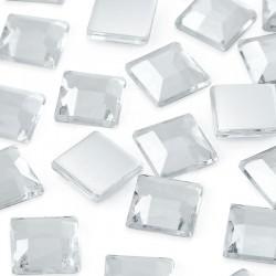 Dżety kwadratowe 16 x 16 mm (kryształowy) - 500 szt.