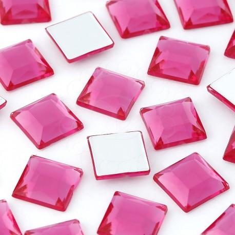 Dżety kwadratowe 10 x 10 mm (różowy ciemny) - 1000 szt.