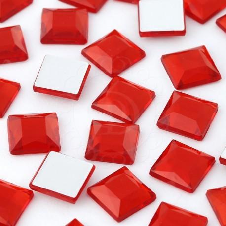 Dżety kwadratowe 10 x 10 mm (czerwony) - 1000 szt.
