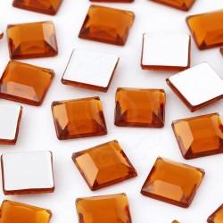 Dżety kwadratowe 10 x 10 mm (bursztynowy) - 1000 szt.