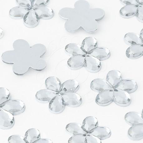 Dżety kwiatki 10mm 1000 szt. (KRYSZTAŁOWE)