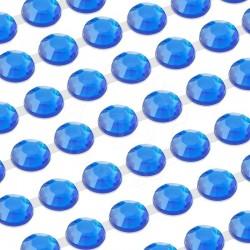 Dżety samoprzylepne połączone 6 mm (niebieski) - 300 szt.