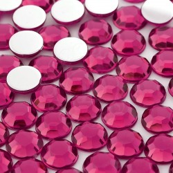 Dżety okrągłe 10 mm (różowy ciemny) - 1000 szt.
