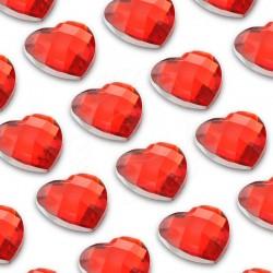Cyrkonie serca 3,2 mm (czerwony) - 176 szt.
