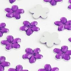 Dżety kwiatki 10 mm (fioletowy ciemny) - 1000 szt.