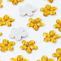 Dżety kwiatki 10 mm (złoty) - 1000 szt.